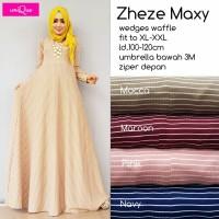 Murah Zie Maxi Dress Gamis Muslim Waffle Import Bestseller XXL LD 120c