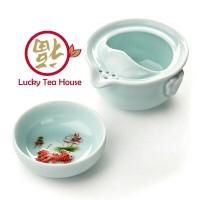 harga Keramik Tea Set Chinese Kungfu Travel Teapot Teacup Biru Ikan Tokopedia.com