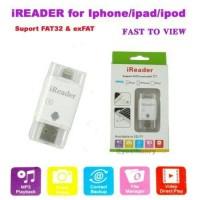 Jual IREADER IPHONE IPAD MINI LIGHTNING CARD READER IFLASH I-FLASH MICRO SD Murah