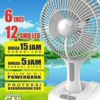 Kipas Angin Portable Arashi England 3in1 Lampu Emergency Powerbank