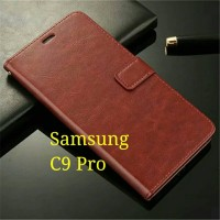 Flip Cover Samsung Galaxy C9 Pro C9Pro  Wallet Leather Case
