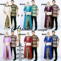 Baju Batik Modern Kebaya Couple Muslim Dress + kemeja Pria arinaa co