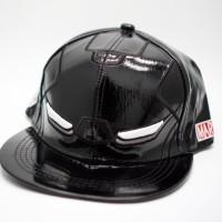 black ironman snapback cap trucker hat topi