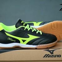 Sepatu Kets Olahraga Pria Cowok Murah Mizuno Futsal Hitam Kuning