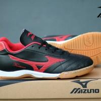 Sepatu Kets Olahraga Pria Cowok Murah Mizuno Futsal Hitam Merah