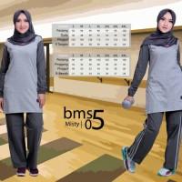 Baju Setelan OlahRaga Wanita Muslim Ukuran Big Size Sporty Ori BMS 05