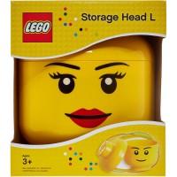 BERKUALITAS Lego Storage Head Female Large L Smiley Face