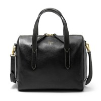Fossil Sydney Satchel Black - Tas Branded Leather Ori Original