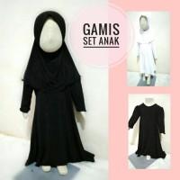 Jual Abaya anak size S gamis anak perempuan set jilbab syiria hijab syari Murah