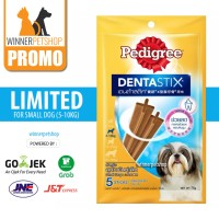 pedigree dentastix denta stix 75gr snack cemilan anjing small breed