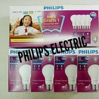 LAMPU PHILIPS LED 8WATT 8W 8 WATT 8 W 1 PAKET ISI 4