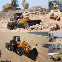 HuiNa Toys1520 Six Channel RC Metal Bulldozer Charging RC Car