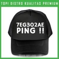 topi 7EG302AE Ping !! Trucker Baseball Snapback TMB1504 Distro