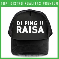 topi Di Ping Raisa Trucker Baseball Snapback TMB1455 Distro