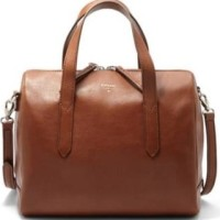 Fossil Sydney Satchel Brown - Tas Branded Leather Ori Original