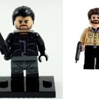 Jual MINIFIGURES LEGO KW THE WALKING DEAD NEGAN VS RICK GRIMES BRICKS BLOCK Murah