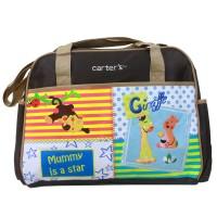 CARTER'S Diaper Bag Monkey Giraffe (Mommy is A Star) / Brown
