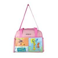CARTER'S Diaper Bag Monkey Giraffe (Mommy is A Star) / Soft Pink