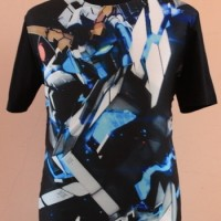 Murah T-shirt Kaos Anime Gundam Unicorn Full armor black