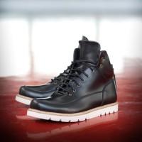 Sepatu Boots Pria Navara Herrick Black Laki Scr32