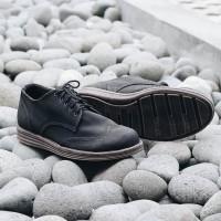 Sepatu Navara Brad Black | Navara Shoes | Sepatu Formal Vintage Scr32