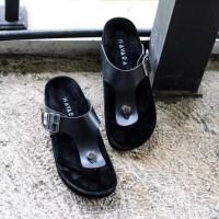Sandal Pria Navara Anson Full Black | Sandal Pria Santai Scr32