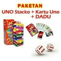 Jual Grosir !!! Paket Uno Stacko + Kartu Uno Murah