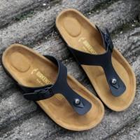 Sandal birkenstock pria japit hitam premium