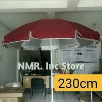 (Diameter 230cm) Payung Tenda pantai dagang PKL, taman, Cafe (2 Lapis)