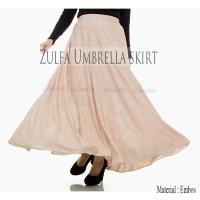 Rok Panjang Payung Pesta Muslimah Zulfa Umbrella Maxi Skirt Embos