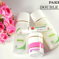 Double Glow Paket Theraskin plus serum skin white - PAKET DOUBLE