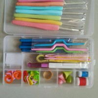 Jual alat rajut set hakken pen set crochet knitting tools Murah