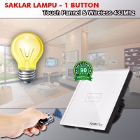 harga Saklar Lampu Layar Sentuh 1 Tombol Plus Remot - Wireless 433 Mhz Murah Tokopedia.com
