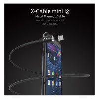 Jual WSKEN X-Cable Mini 2 Magnetic Cable for Micro USB Smartphones - Black Murah