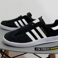 Sepatu Adidas Gazelle OG Classic 2 Indoor Black White Hitam