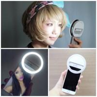 Jual RING LIGHT SELFIE LED ( PUTIH ) / LAMPU SELFIE BULAT Murah