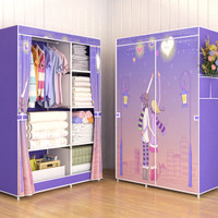 03 LOVE Multifunction Wardrobe / Cloth Rack with cover lemari pakaian
