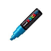 Uni Posca Paint Marker PC-8K - Metallic Blue - Broad Point
