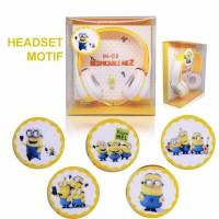 harga Headphone Karakter / Headset Cartoon / Headset Bando Motif Monion Tokopedia.com