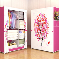 03 TREE Multifunction Wardrobe / Cloth Rack with cover lemari pakaian