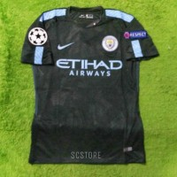 Jersey Manchester City 3RD FULL PATCH UCL 2017/2018 Grade Ori