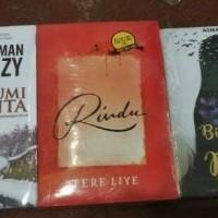 Paket 3 novel Rindu , Bumi Cinta Dan Bidadari Untuk Dewa