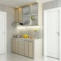 Jual kitchen set 1,2 meter HPL glossy top kayu. Murah