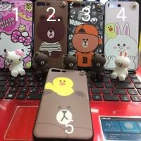 Case Samsung J3 PRO Soft Case Gantungan Boneka Lucu Bisa Standing Hp