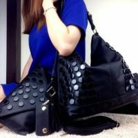 Tas Fashion Hobo 3 in 1 Semi Premium Import Batam Berkualitas DNP69