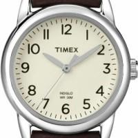Timex Women T2N902 Weekender Brown Leather Strap Watch