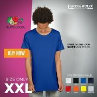 Jual Kaos Fruit of The Loom Soft Premium size XXL - GROSIR MURMER Murah