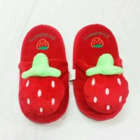 Sandal Stroberi - Sandal Kamar Stroberi - Sandal Rumah Stroberi Dewasa