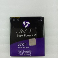 Baterai Double Power + IC Samsung G355H / Core2 Batre Original Mel-V