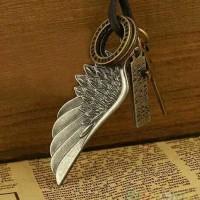 Jual kl7900294 kalung impor vintage salib sayap malaikat Murah